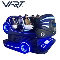 Happy Mobile Amusement Park Rides Machine VART 360 Roller Coaster 9D VR Chair Cinema 6 Seats VR