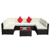 Sofa Set Patio Furniture Cane Outdoor Pool Frame Rattan Style Fabric Packing Modern Cushion Pcs