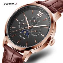 Sinobi, роскошные мужские деловые часы, полностью из нержавеющей стали, календарь, кварцевые мужские наручные часы Geneva, Rolexable Japan Move, мужские час...(Китай)