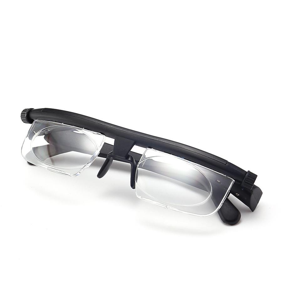 Có Thể Điều Chỉnh Kính Đọc Sách-600 + 300 Cận Thị Hyperopia TR90 Khung Dual-Sử Dụng Linh Hoạt Độ Dài Tiêu Cự Cắt Tỉa-6D + 3D