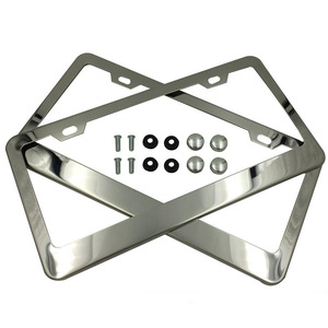 Wholesale custom metal stamping stainless steel license plate frame