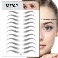 3D Disposable Simulation Brow Stamp Transfer Temporary Eyebrow Tattoo Sticker For Microblading Training