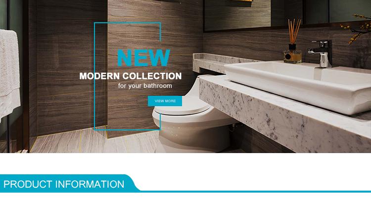 Diseño Popular alta altura de cerámica de baño pie montado en el lavabo de pedestal