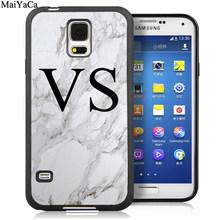 MaiYaCa индивидуальные Серые Мраморные монограммы мягкие чехлы для телефонов для samsung S6 S7 edge S8 S9 S10 Plus Lite Note 8 9 задняя крышка(Китай)