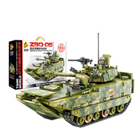 632007 1285pcs Amphibious Infantry Fighting Vehicle Tank Building Blocks Bricks Toys
