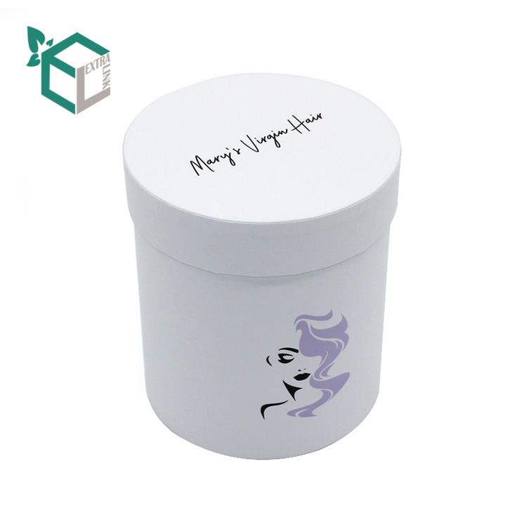 Wholesale luxury Paper Hair Extension Packaging Wig Tube Box