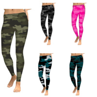 92% polyester 8% spandex buttery soft brushed custom design your own camo print leggings for women