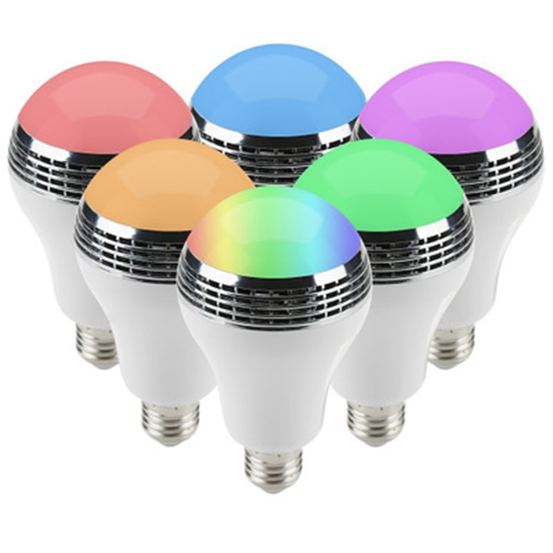 9W 9 Watt Color Change Music Lamp LED Bulb Housing Aluminium
