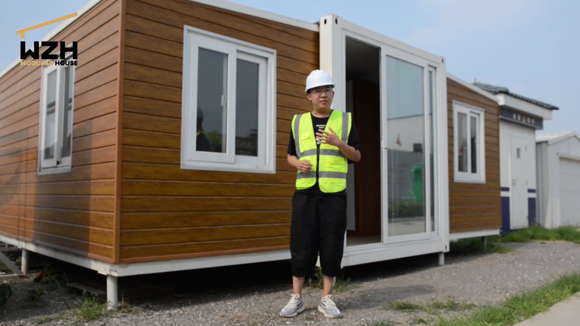 Cheap 20 40 ft luxury house cabine prefab folding modular homes portable expandable container house