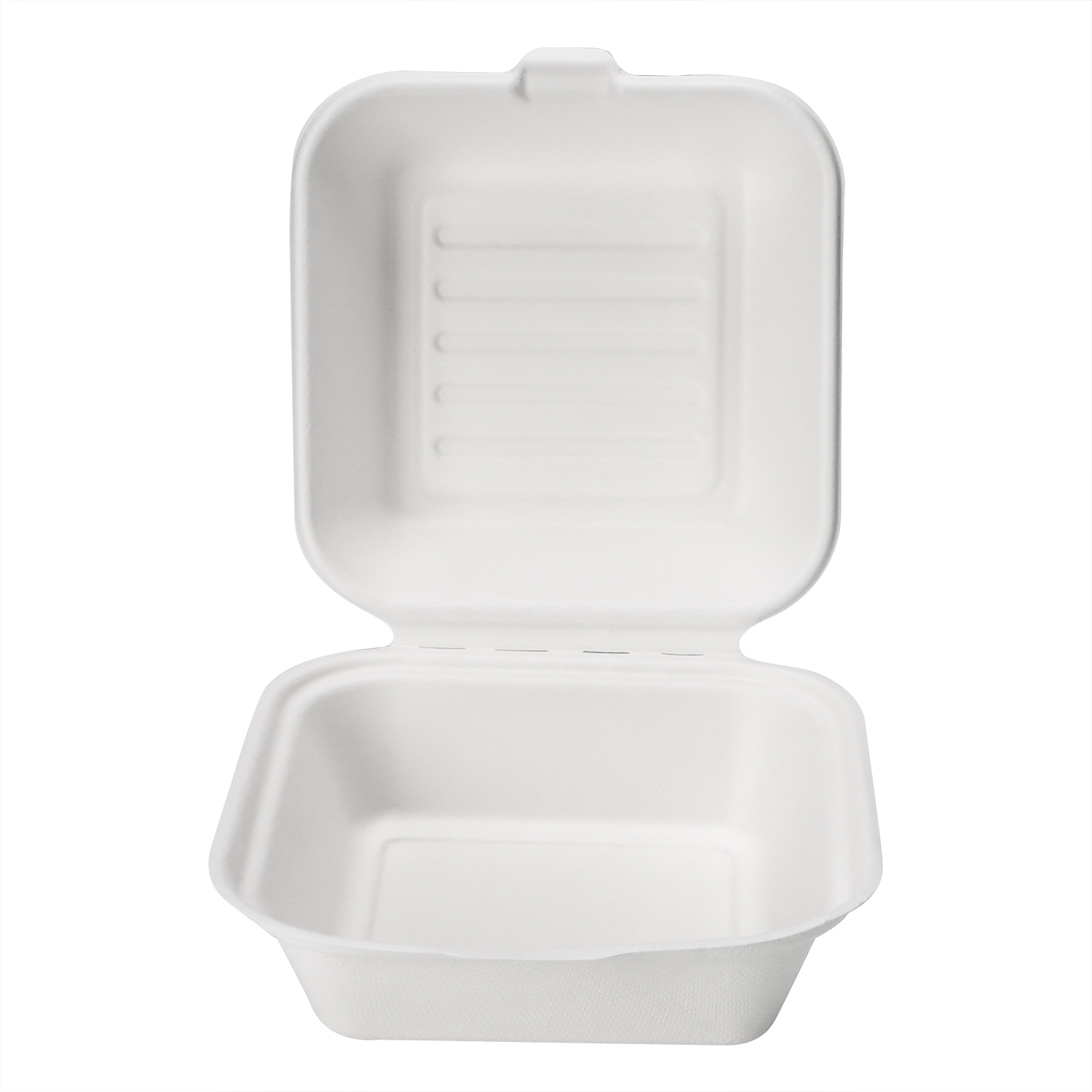 Natural Bagasse Pulp Fast Food Packaging Europe Type 6 inch mini Sugarcane Pulp Clamshell Burger Box