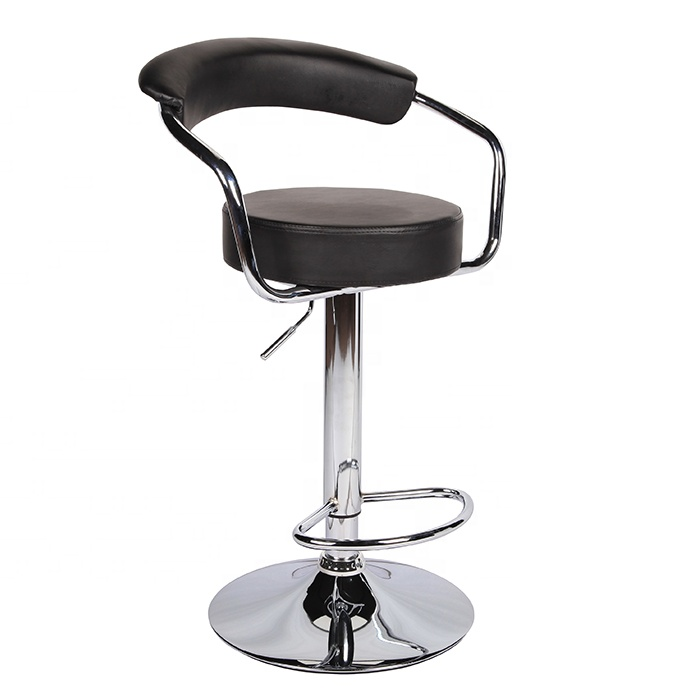 Yide Rattan bar stool with low rest back