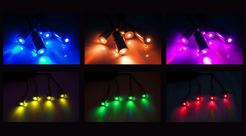 Led lumières intérieures de voiture néon contrôle smartphone