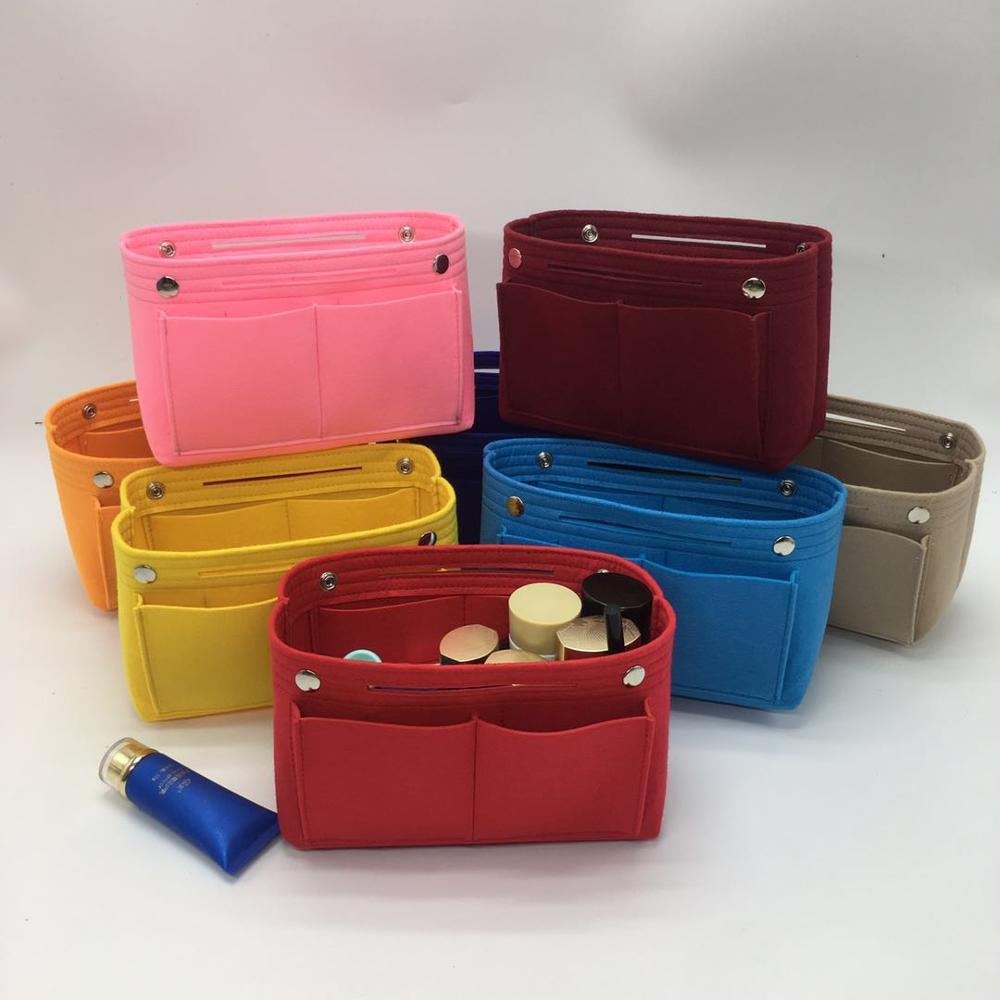 2020 Venta caliente de fieltro maquillaje cosmético bolso cosmético bolsa de almacenamiento organizador de viajes