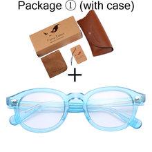 Круглые ацетатные оптические прозрачные очки, очки с прозрачными линзами, рамка с имитацией, очки в стиле ретро для близорукости, оптически...(Китай)