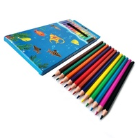 Cheap 7inch Hexagon Art Set Drawing Colouring 12 Color Pencil
