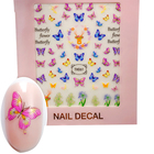Beauty Sticker 3D Flowers Butterfly Nail Decal Sticker Hot sell nail art