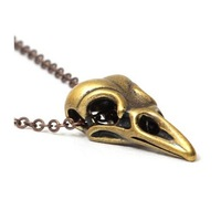 Wholesale Steam punk Necklace 3D Bird SKULL Skeleton Necklace Pendant Pirate of The Caribbean Jewelry Necklace