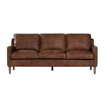 American Style Vintage Leather Sofa Mid
