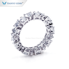 Tianyu Gemme Nizza Disegno Au750 18K Oro Bianco <span class=keywords><strong>4M</strong></span> Cuore Cut Moissanite Anelli di <span class=keywords><strong>Diamante</strong></span>