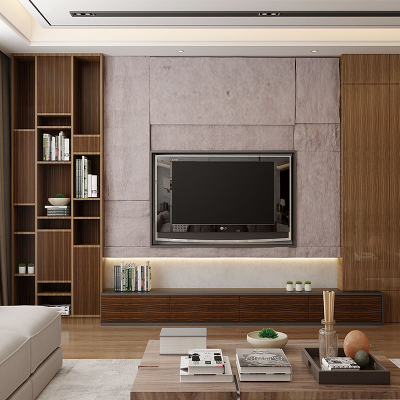 Modern <strong>Design</strong> Customized Wooden Living Room TV Cabinets