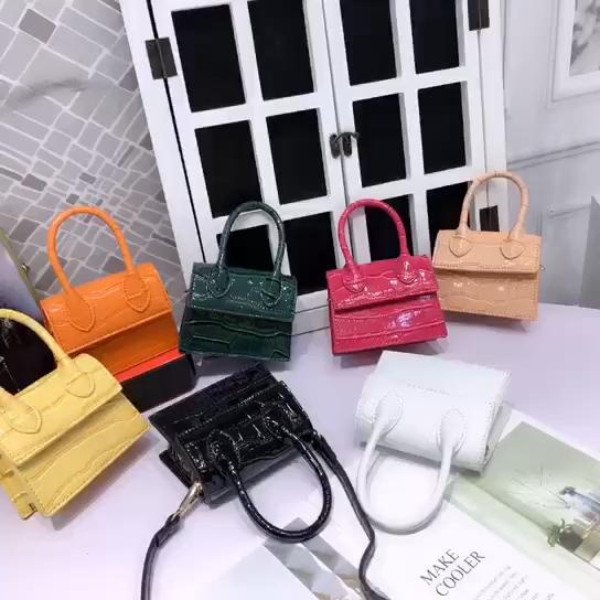 Mini Sacs À Main pour Femmes 2020 Mode Nouvelle Qualité En Cuir PU Sac À Main femme motif Crocodile Dames Designer Sacs de Messager
