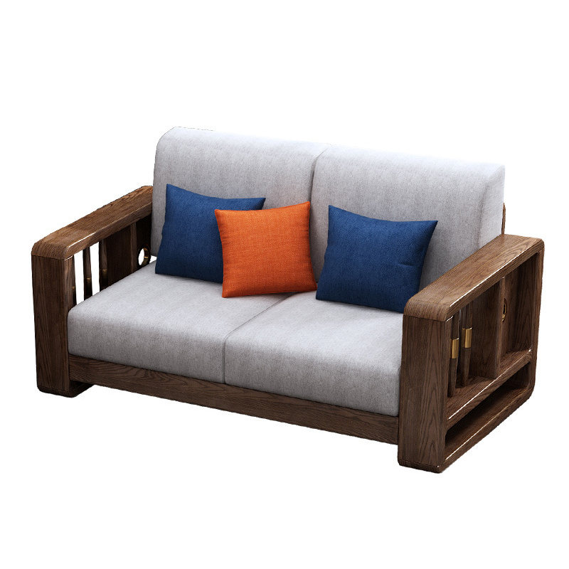 product-BoomDear Wood-BOOMDEER morden custom natural wooden+fabric sofa for living room furniture-im-3