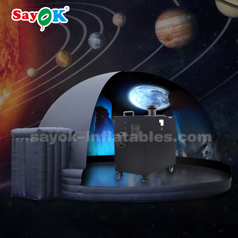 360 degree fulldome portable planetarium projector with fisheye lens