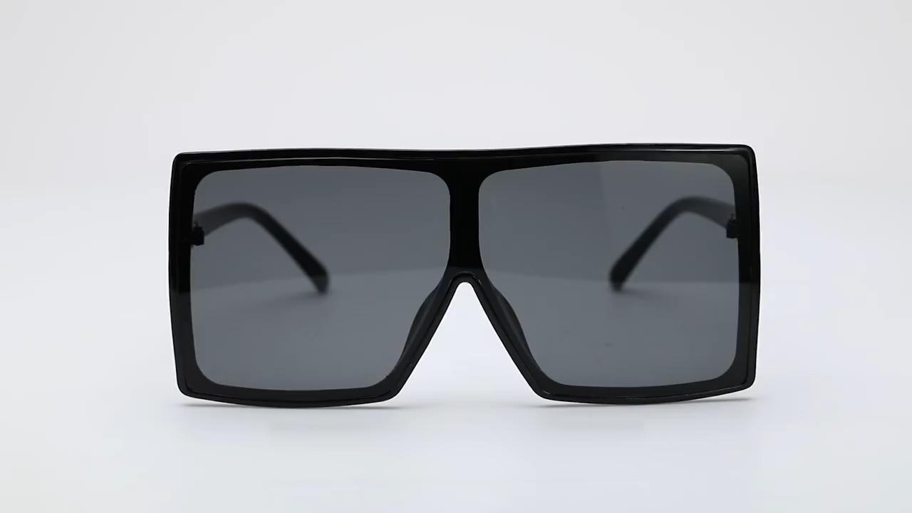 Kenbo Eyewear 2020 New Style Big Frame One Piece Shades Sunglasses Women Flat Top Thick Frame Sun glasses Sunglasses