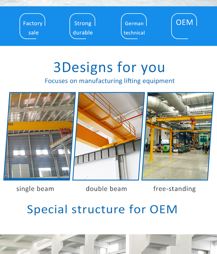 Professionnel fabrication de grue durable Pont Grue échelle de grue