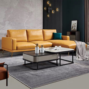 Italian modern office luxury couches living room furniture 7 seater l shape leather recliner sectional corner sofa set three