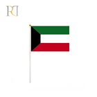 Custom wholesale cheap printing hand shaking waving kuwait hand flag