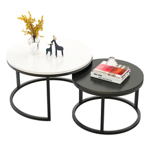 Modern tea table sofa side simple wrought iron coffee table