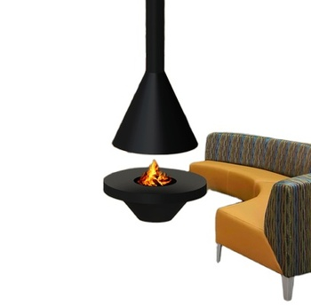 indoor wood burning stoves suspended fireplace and ceiling mounted stove