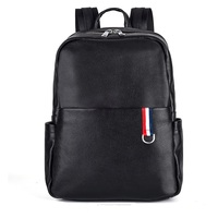 High Quality Fashion Travel Casual Waterproof Leather Laptop Backpack