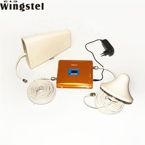 Dual band GSM 2g 3g 4g lte mobile network booster 900/1800mhz signal repeater with Antenna