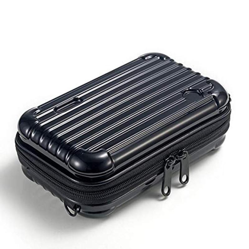 حار بيع مخصص قشرة صلبة البسيطة تجميل ضد الماء الحقيبة السفر حمل المحمولة أدوات الزينة حالة