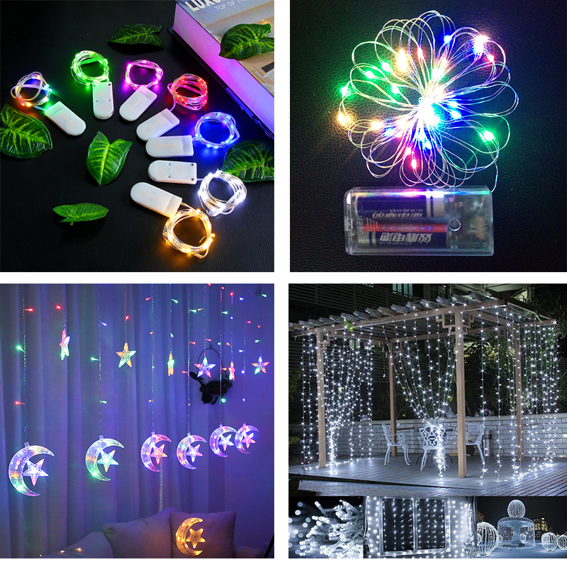 Super bright diffuse F8 LED with 3AA battery box timer function Christmas Lighting