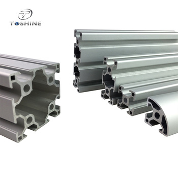 Extruded Aluminum T- Slot Profile For Industrial Automation Machine System