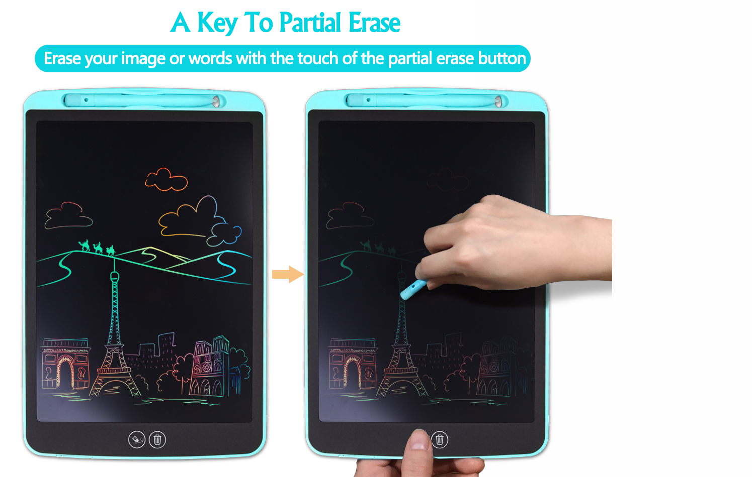 2020  Electronic Erasable Handwriting Pad Message Graphics 8.5/10/12/15/20 inch Drawing Board Kids  Lcd Writing Tablet