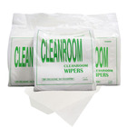 "9"" Industrial White Absorbent SMT Wipes Nonwoven Wood Pulp Spunlace Lint Free Cleanroom Cleaning Paper"