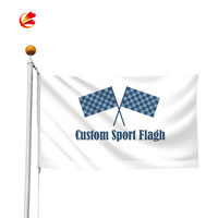 Cheap wholesale polyester banner printing checkered church flag football flags promotion flags and banners