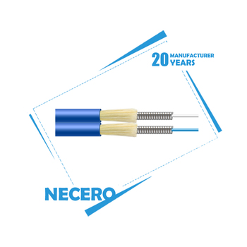 Indoor 2 core armoured fiber optic cable By 20 years factory Necero
