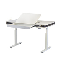 New Style Office Furniture Manual Adjustable Height Desk With Hand Crank For Children Study