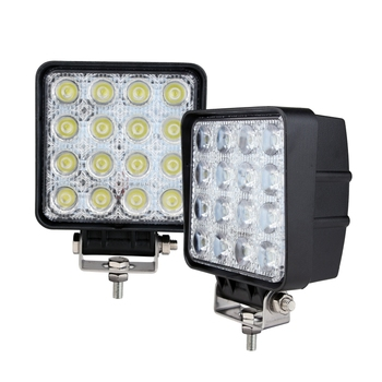 "E-mark wholesale high quality 12v 24v 48w 4.5"" Square auto lighting Tractor Forklift Heavy duties Work Light"