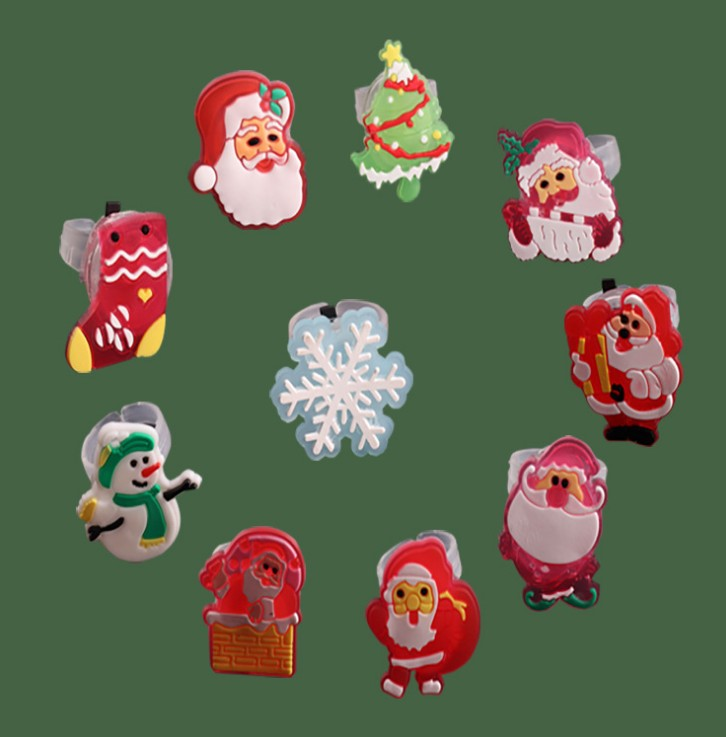 Лидер продаж Рождество LED кольцо блестящий Санта кольца с свет Led праздник подарок палец кольца для детей