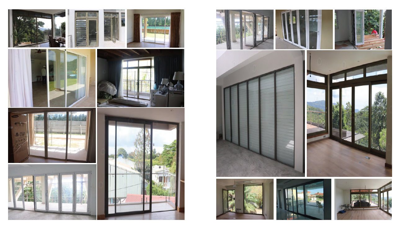 New grill window door designs double glazed slide aluminium frame sliding frosted glass window/door with best price