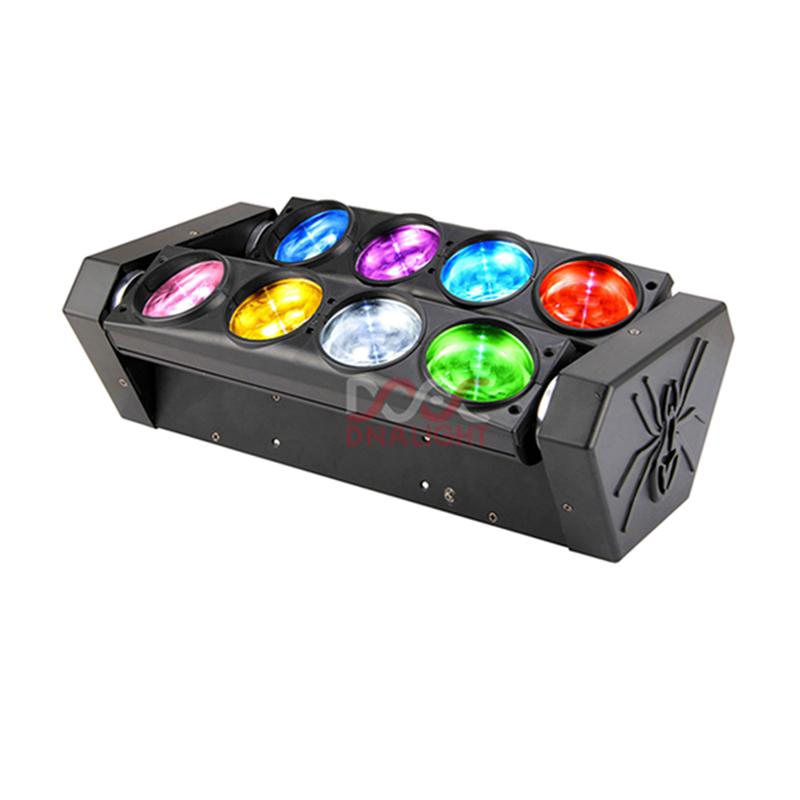 Pro Dj led light 8pcs 12w RGBW 4in1 Led Mini Moving Spider Beam LED Stage Lights Price