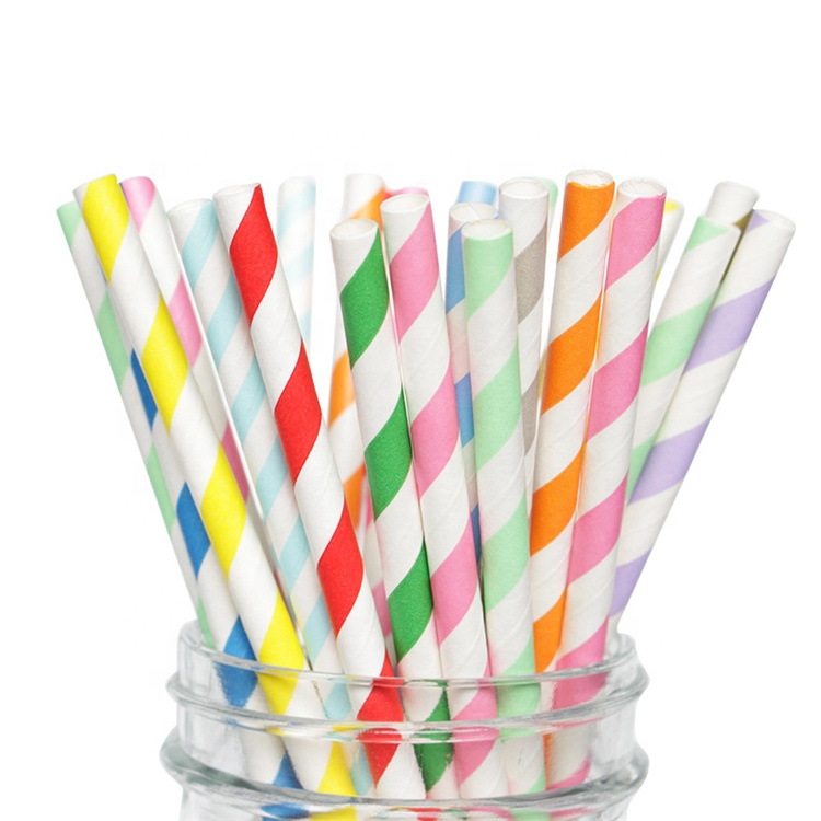 Callfeny Biodegradable Eco friendly Food Grade Paper Straw Disposable Straw Wholesale Straw for Parties Bars