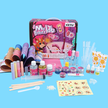 Funny STEAM Educational Experiment Science Toys for kids/ DIY Hand Cream, Perfume and Lipstick.