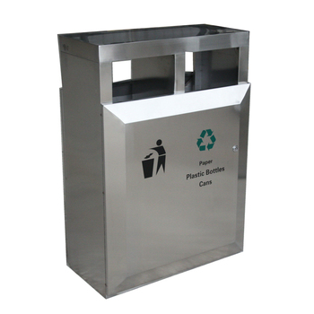 double container stainless steel waste basket waste bins garbage containers